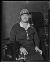 Mrs. Fern Carlin, defense witness in trial against councilman Carl I. Jacobson, Los Angeles, 1927