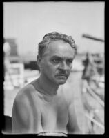 Frank Jansen, professor at USC and captain of ship, Los Angeles, 1931