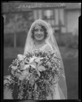 Norma Shearer on her wedding day, Beverly Hills, 1927