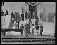 Cornerstone laying ceremony at new City Hall, Los Angeles, 1927