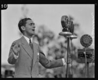 Irving Berlin sings at Los Angeles City Hall dedication, Los Angeles, 1928