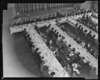 Los Angeles Times women employees at Annual Christmas breakfast, Los Angeles, 1939