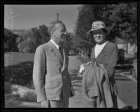 Upton Sinclair and wife Mary Craig, Santa Barbara, 1935