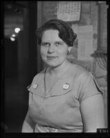 Los Angeles Times editor Stella Brockway, Los Angeles, 1934