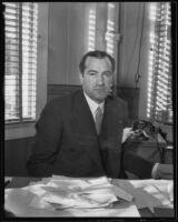 KHJ radio station manager C. Ellsworth Wylie, Los Angeles, 1935
