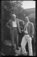 Art critics for Los Angeles Times Antony Anderson and Arthur Millier, Laguna Beach, 1933