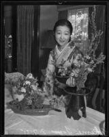 Japanese 'floral ambassador' Yuriko Go under pseudonym Akemi Togo, Los Angeles, 1935