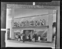 Front of Eastern's new store on Wilshire Blvd (copy), Los Angeles, 1935