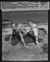 Runaway twins Beverly and Byron Hendricks, Los Angeles, 1935