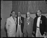 High Officials at the National Association of Retail Meat Dealers Convention, Los Angeles, 1935