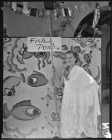 Mary Plimpton, assistant at Old Plaza Mission Restoration Fiesta, Los Angeles, 1935