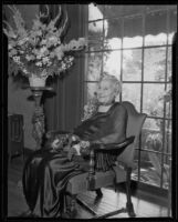 Mrs. Valerie Smythe at 92nd birthday celebration, Los Angeles, 1935