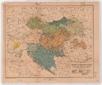 Völker-und Sprachen-Karte der Österreichisch-Ungarischen Monarchie.