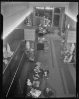Interior view of The Bachelors haberdashery designed by Julius Ralph Davidson, Los Angeles, circa 1929