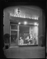 Exterior view of The Bachelors haberdashery designed by Julius Ralph Davidson, Los Angeles, circa 1929