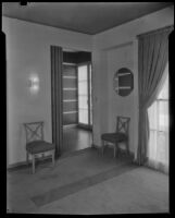 "Interior view of ""Irene LTD,"" a dress shop of designer Irene Lentz Gibbons, Los Angeles, (circa 1930?)"