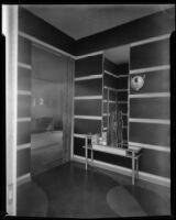 "Interior view of ""Irene LTD,"" a dress shop of designer Irene Lentz Gibbons, Los Angeles, (circa 1930?)"