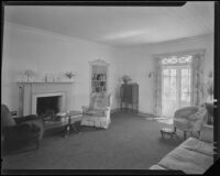 Living room possibly designed by J. R. Davidson or Jock Peters, Los Angeles County, 1928-1934
