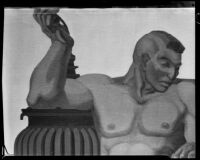Mural study with detail of nude man, by Barse Miller, 1930-1939