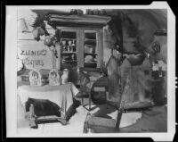 Scene at Ziemer's Antiques shop, painting by Barse Miller, 1925-1939