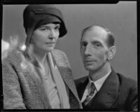Carl Smalley, publishers' representative and art dealer, with his wife (?), 1931