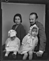 Franz Geritz with his wife Josephine and daughters Ferenc and Mariska, Los Angeles, 1930