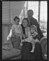 Raymond Griffith with his wife Bertha Mann and their children Michael and Patricia, Los Angeles, 1933-1934