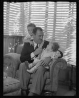 Raymond Griffith with his children Michael and Patricia, Los Angeles, 1933-1934