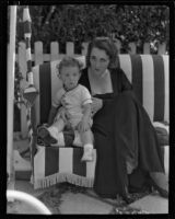 Bertha Mann with her son Michael Griffith, Los Angeles, 1933-1934