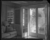 Den or family room in the William Conselman Residence, Eagle Rock, 1930-1939