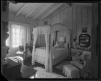 Girl's bedroom in the William Conselman Residence, Eagle Rock, 1930-1939