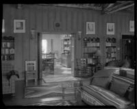 Living room in the William Conselman Residence, Eagle Rock, 1930-1939