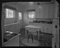 Kitchen in the William Conselman Residence, Eagle Rock, 1930-1939