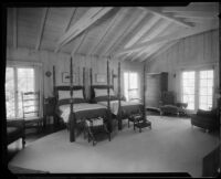 Bedroom in the William Conselman Residence, Eagle Rock, 1930-1939