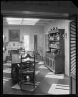 Dining room in the William Conselman Residence, Eagle Rock, 1930-1939