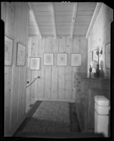 Hallway in the William Conselman Residence, Eagle Rock, 1930-1939