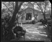 Patio outside the living room of the William Conselman Residence, Eagle Rock, 1930-1939