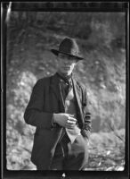 Will Connell (probably) outdoors, circa 1920