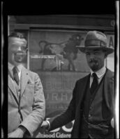 Will Connell (probably) standing next to an unidentified man, circa 1920