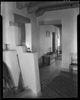 Interior view of the house of artist Carlos Vierra, Santa Fe, 1932