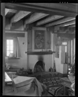 Interior view of the house of William Penhallow Henderson and Alice Corbin, Santa Fe, 1932