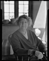 Alice Corbin Henderson seated at her home, Santa Fe, 1932