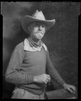 Sheldon Parsons in cowboy attire, Santa Fe, 1932