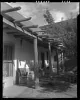 Exterior view of the house of Sheldon Parsons, Santa Fe, 1932