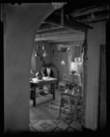 Interior view of the house of Sheldon Parsons, Santa Fe, 1932