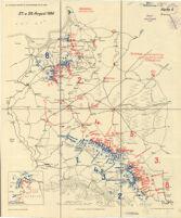 Zu: von Mantey, Kartenbild des Sommerfeldzuges 1914 im Osten. 27.u.28.August 1914