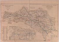Karte der Bergmännischen Industrie Galiziens / Mapa Górniczo Przemysłowa Galicyi