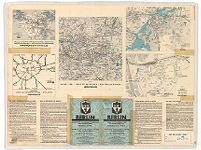 Berlin. Guide - Map with List of Streets and Special Maps: Centre of the City - Potsdam - Reich Sport Field etc.