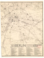 Map of Berlin with the City Branches of the Bank