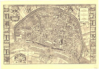 Map of the City of Cologne From The Year 1571 By Arnold Mercator